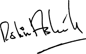 Robin Askwith signature